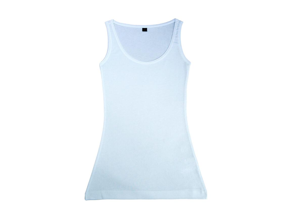 nakedshirt Mia Women`s Organic Fitted Longtop, White, M bedrucken, Art.-Nr. 106850004