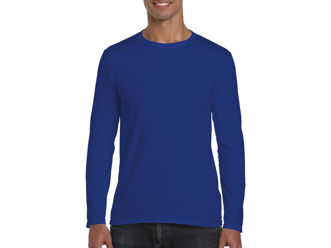 Gildan Softstyle® Long Sleeve Tee, Royal, XL bedrucken, Art.-Nr. 107093006