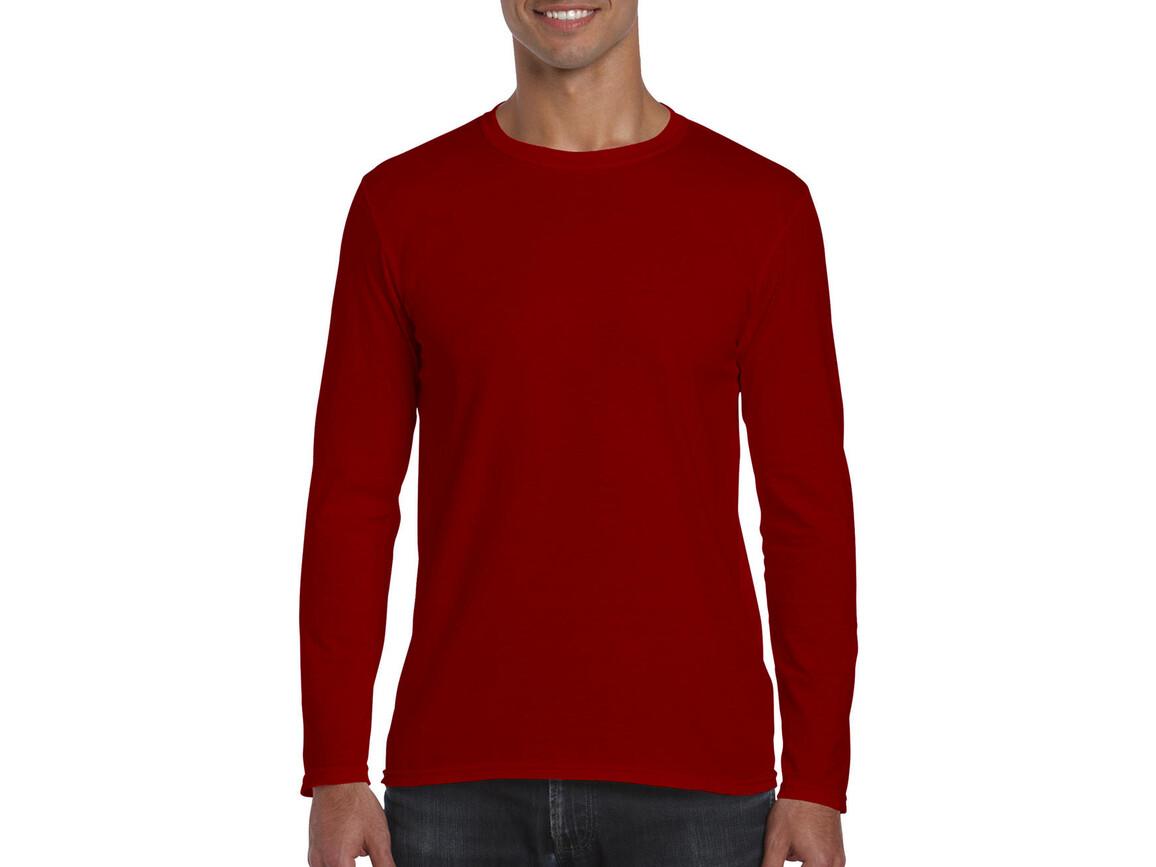Gildan Softstyle® Long Sleeve Tee, Red, M bedrucken, Art.-Nr. 107094004