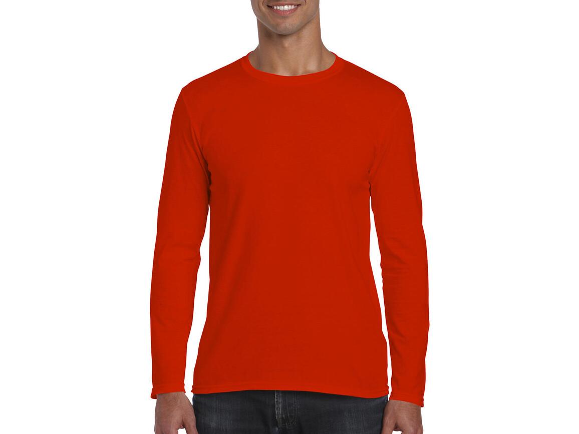 Gildan Softstyle® Long Sleeve Tee, Orange, XL bedrucken, Art.-Nr. 107094106