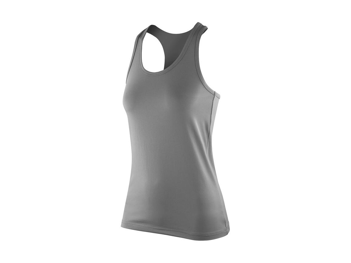 Result Women`s Impact Softex® Top, Cloudy Grey, XS (8) bedrucken, Art.-Nr. 107331192