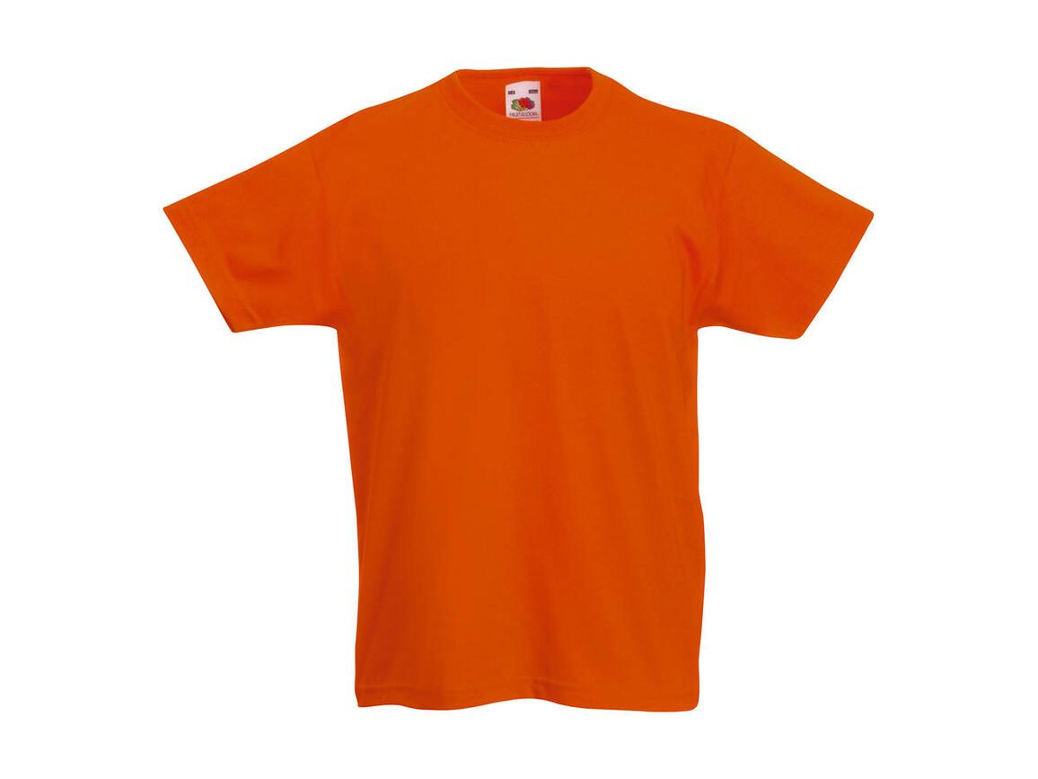 Fruit of the Loom Kids` Original T, Orange, 140 (9-11) bedrucken, Art.-Nr. 108014106