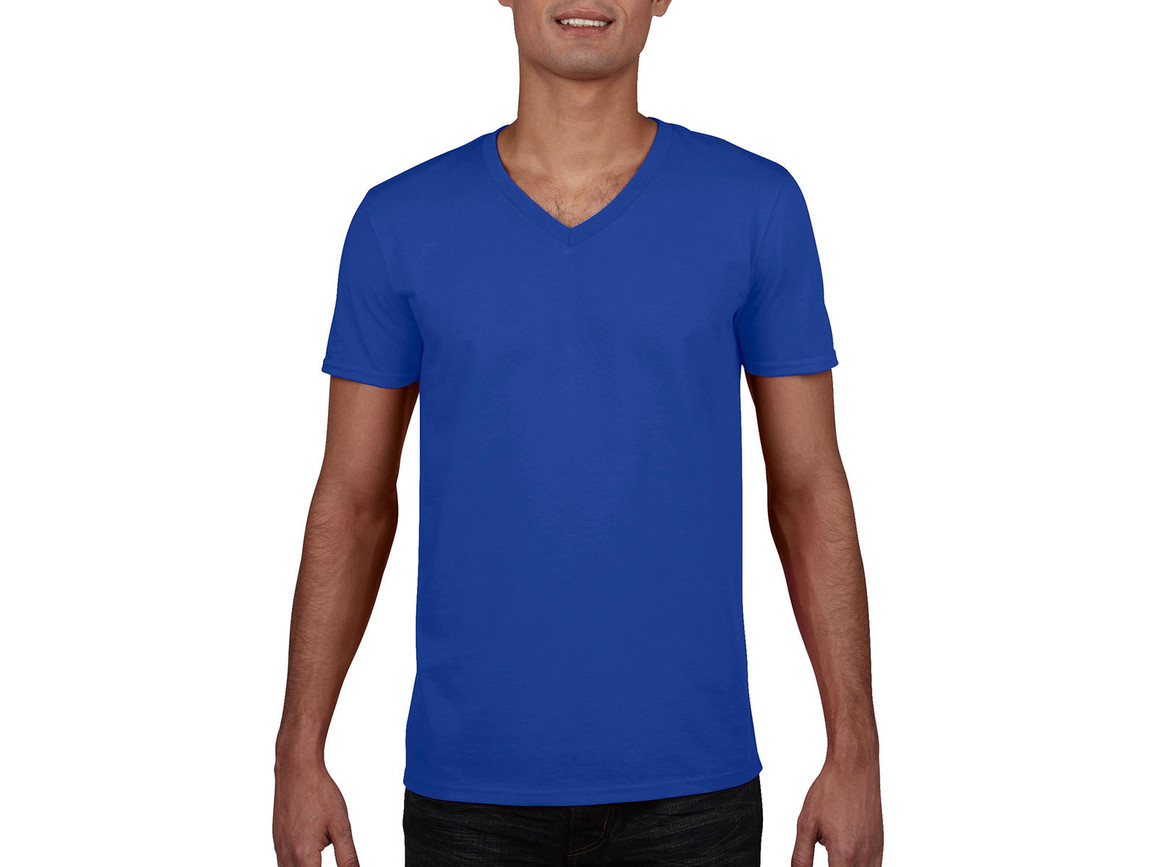 Gildan Gildan Mens Softstyle® V-Neck T-Shirt, Royal, S bedrucken, Art.-Nr. 108093003