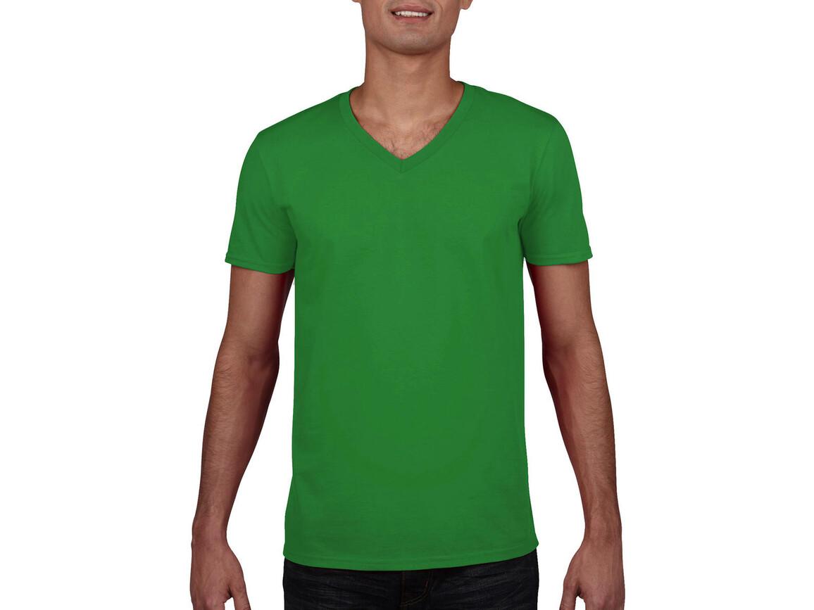 Gildan Gildan Mens Softstyle® V-Neck T-Shirt, Irish Green, XL bedrucken, Art.-Nr. 108095096