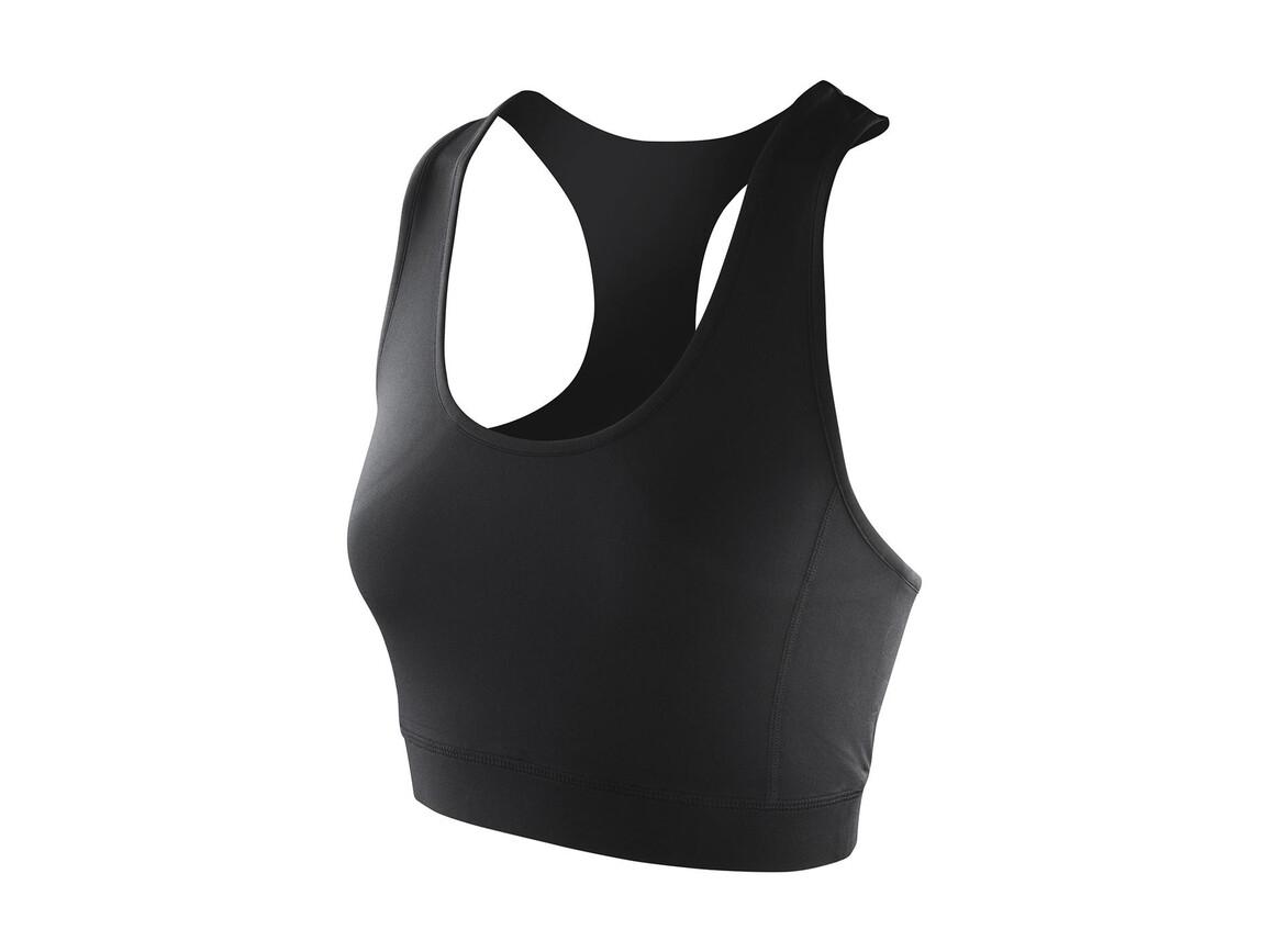 Result Women`s Impact Softex® Crop Top, Black, XL (16) bedrucken, Art.-Nr. 108331016