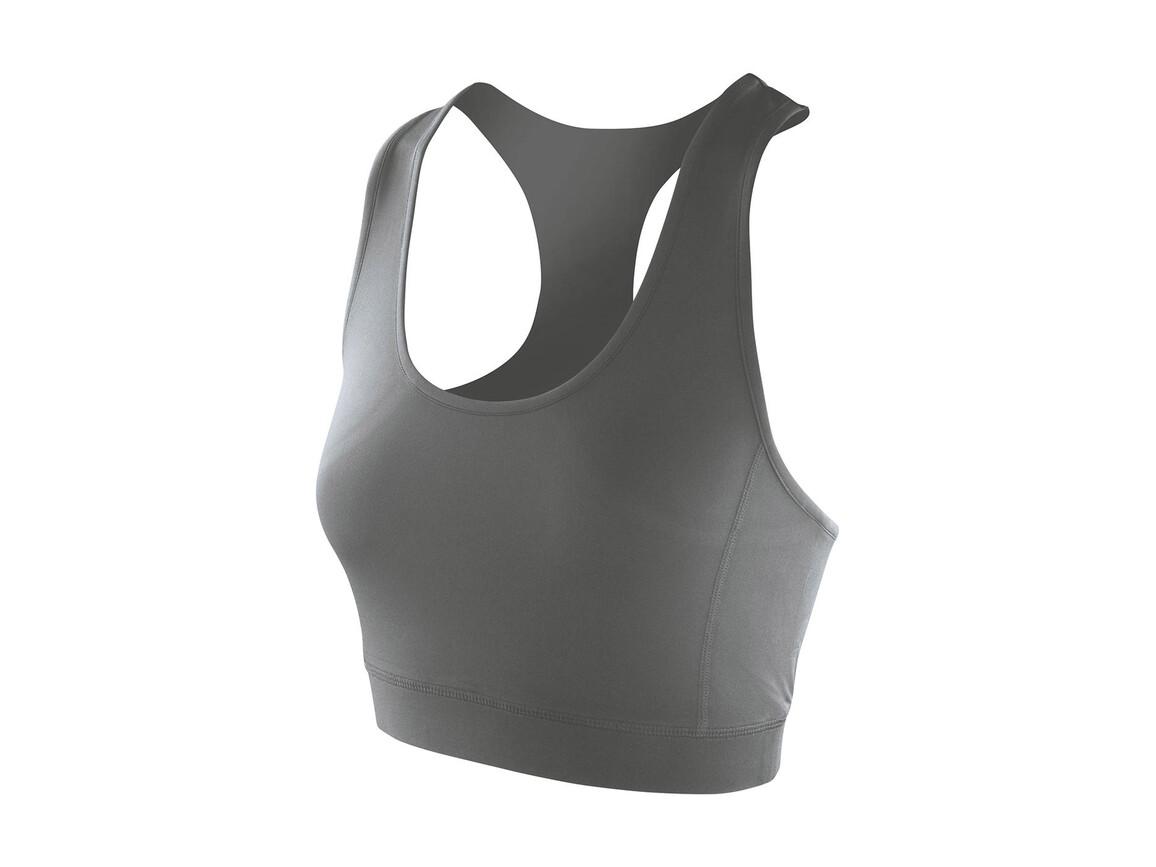 Result Women`s Impact Softex® Crop Top, Cloudy Grey, L (14) bedrucken, Art.-Nr. 108331195