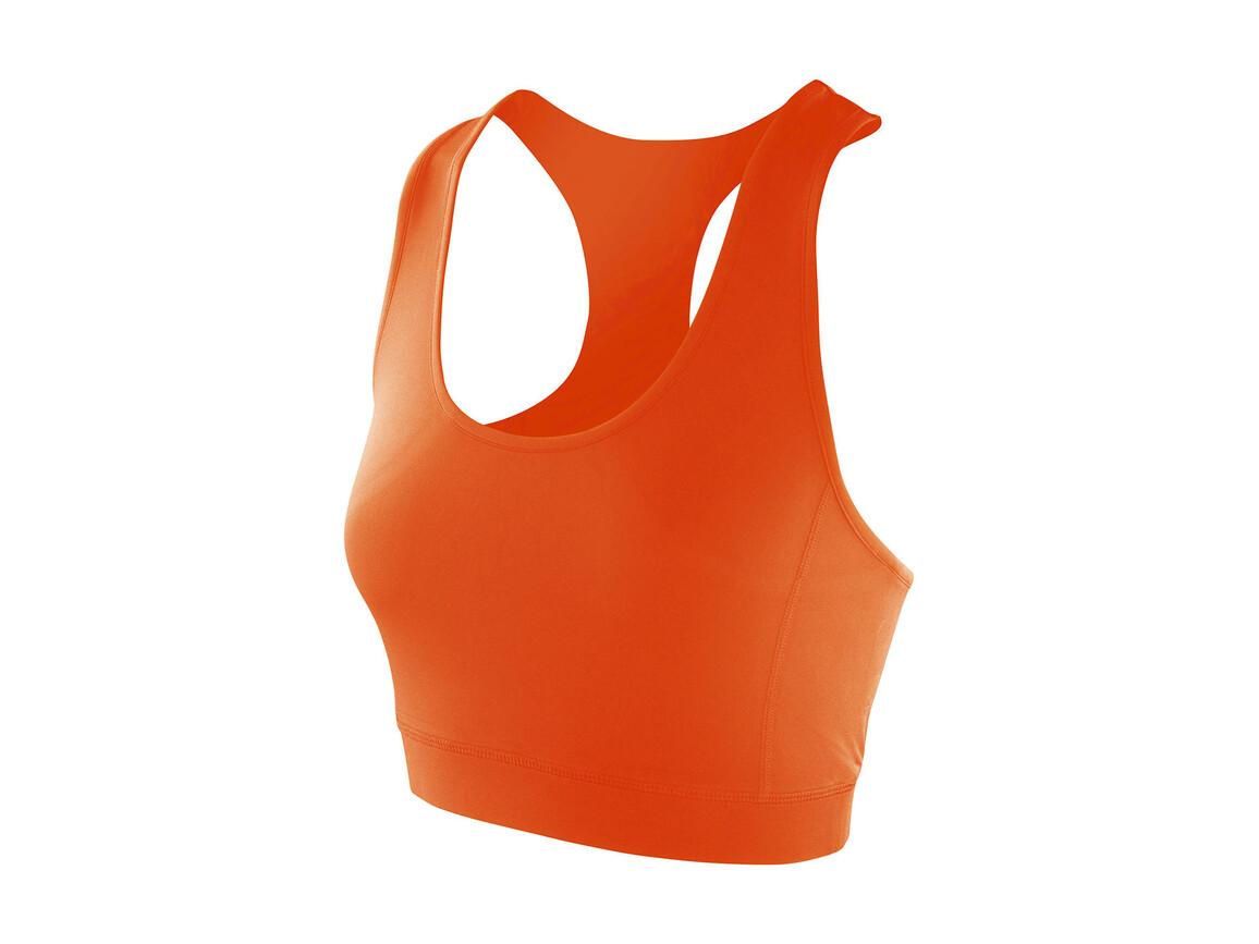 Result Women`s Impact Softex® Crop Top, Tangerine, L (14) bedrucken, Art.-Nr. 108334115