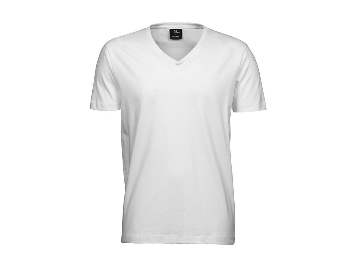 Tee Jays Men`s Fashion V-Neck Sof-Tee, White, M bedrucken, Art.-Nr. 184540004