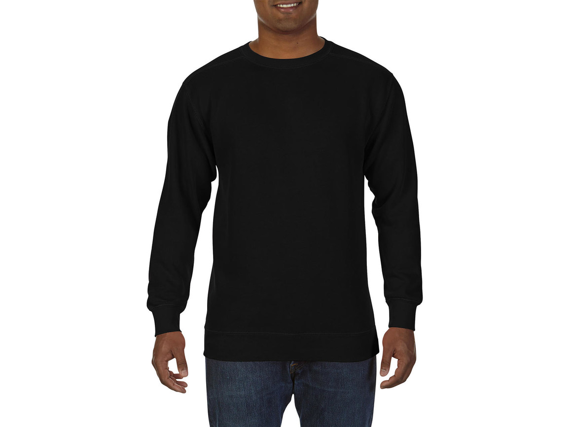 Comfort Colors Adult Crewneck Sweatshirt, Black, L bedrucken, Art.-Nr. 200031015