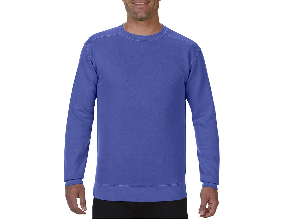 Comfort Colors Adult Crewneck Sweatshirt, Periwinkle, M bedrucken, Art.-Nr. 200033244