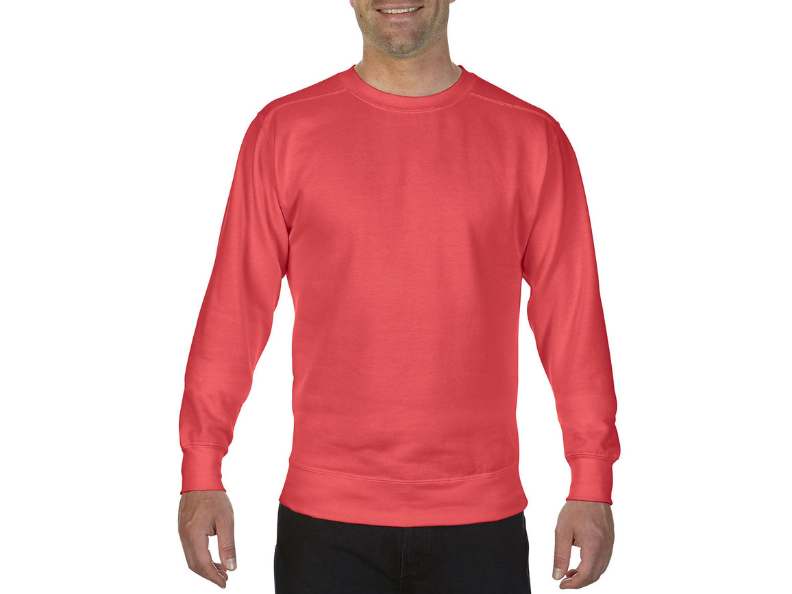 Comfort Colors Adult Crewneck Sweatshirt, Neon Red Orange, S bedrucken, Art.-Nr. 200034153