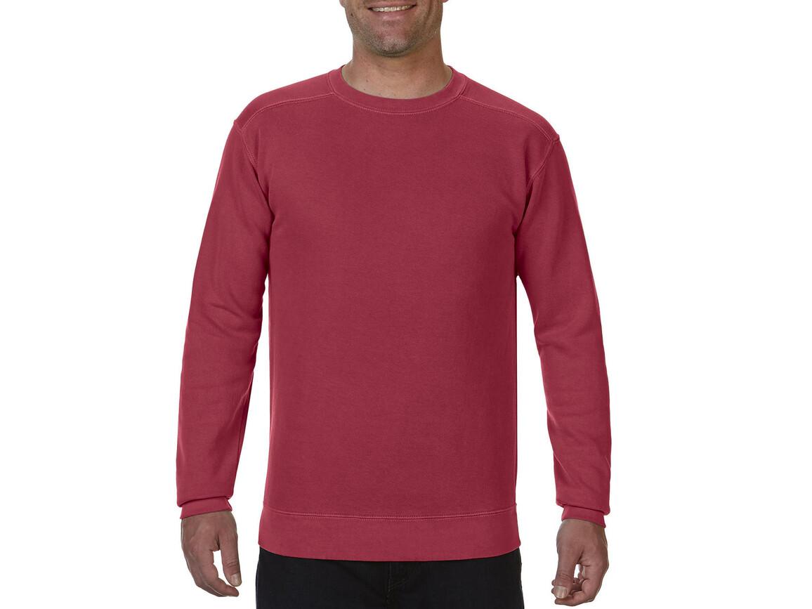 Comfort Colors Adult Crewneck Sweatshirt, Crimson, L bedrucken, Art.-Nr. 200034415