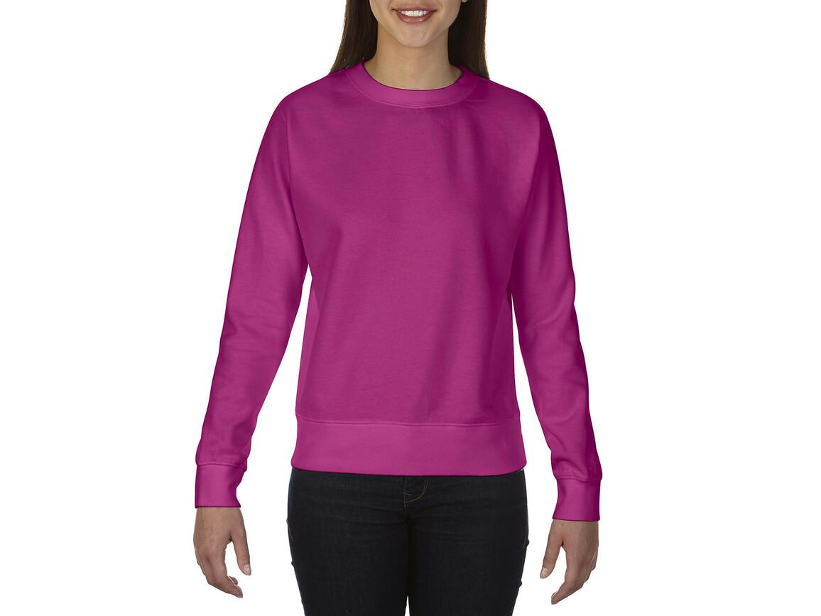 Comfort Colors Ladies` Crewneck Sweatshirt, Raspberry, S bedrucken, Art.-Nr. 202034203
