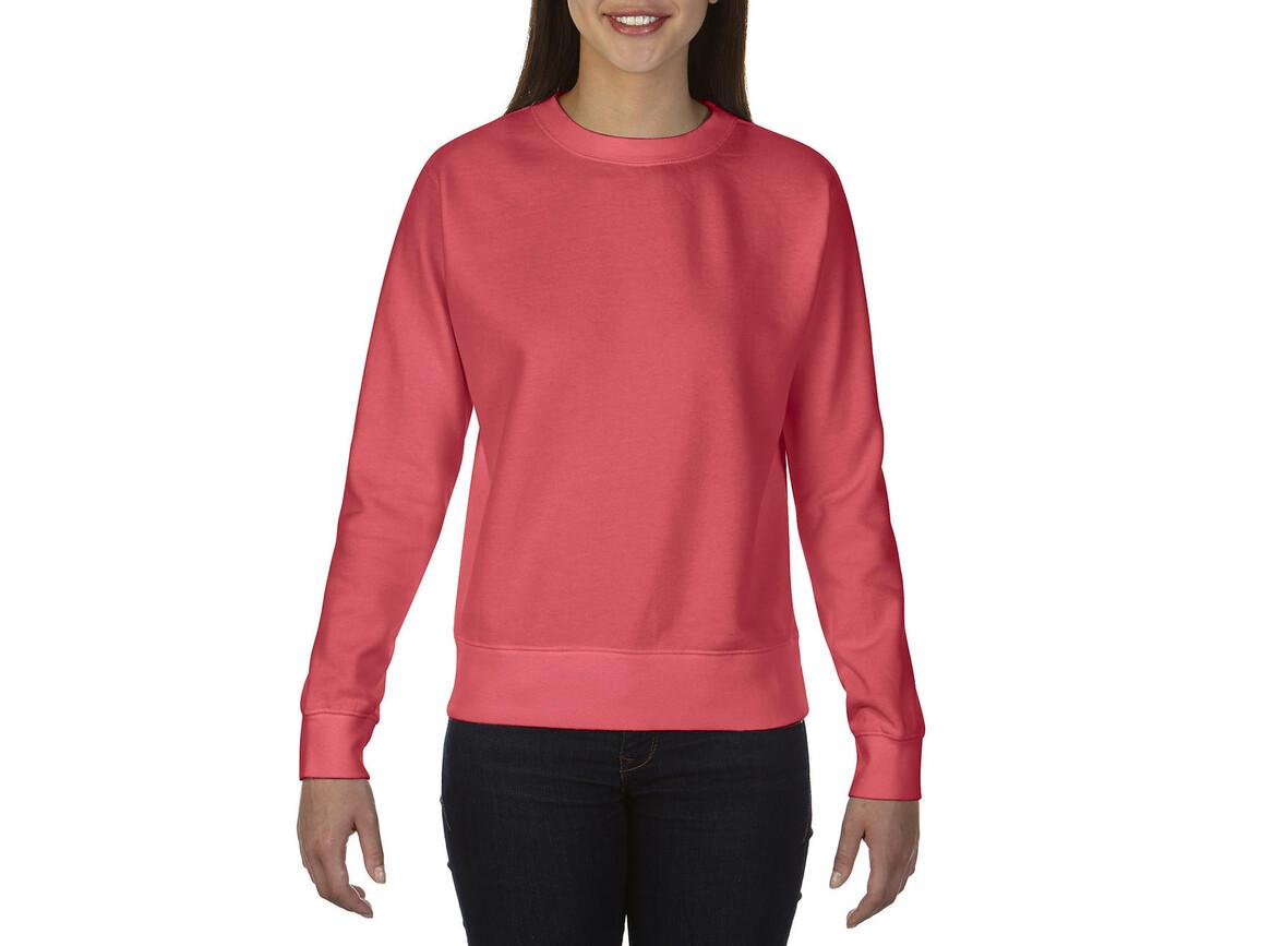 Comfort Colors Ladies` Crewneck Sweatshirt, Watermelon, XL bedrucken, Art.-Nr. 202034216
