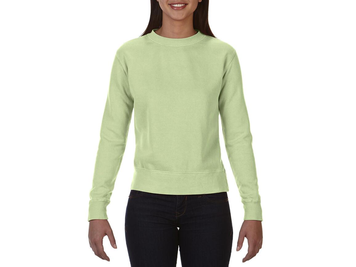 Comfort Colors Ladies` Crewneck Sweatshirt, Celadon, M bedrucken, Art.-Nr. 202035034