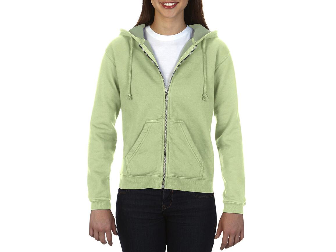 Comfort Colors Ladies` Full Zip Hooded Sweatshirt, Celadon, L bedrucken, Art.-Nr. 204035035