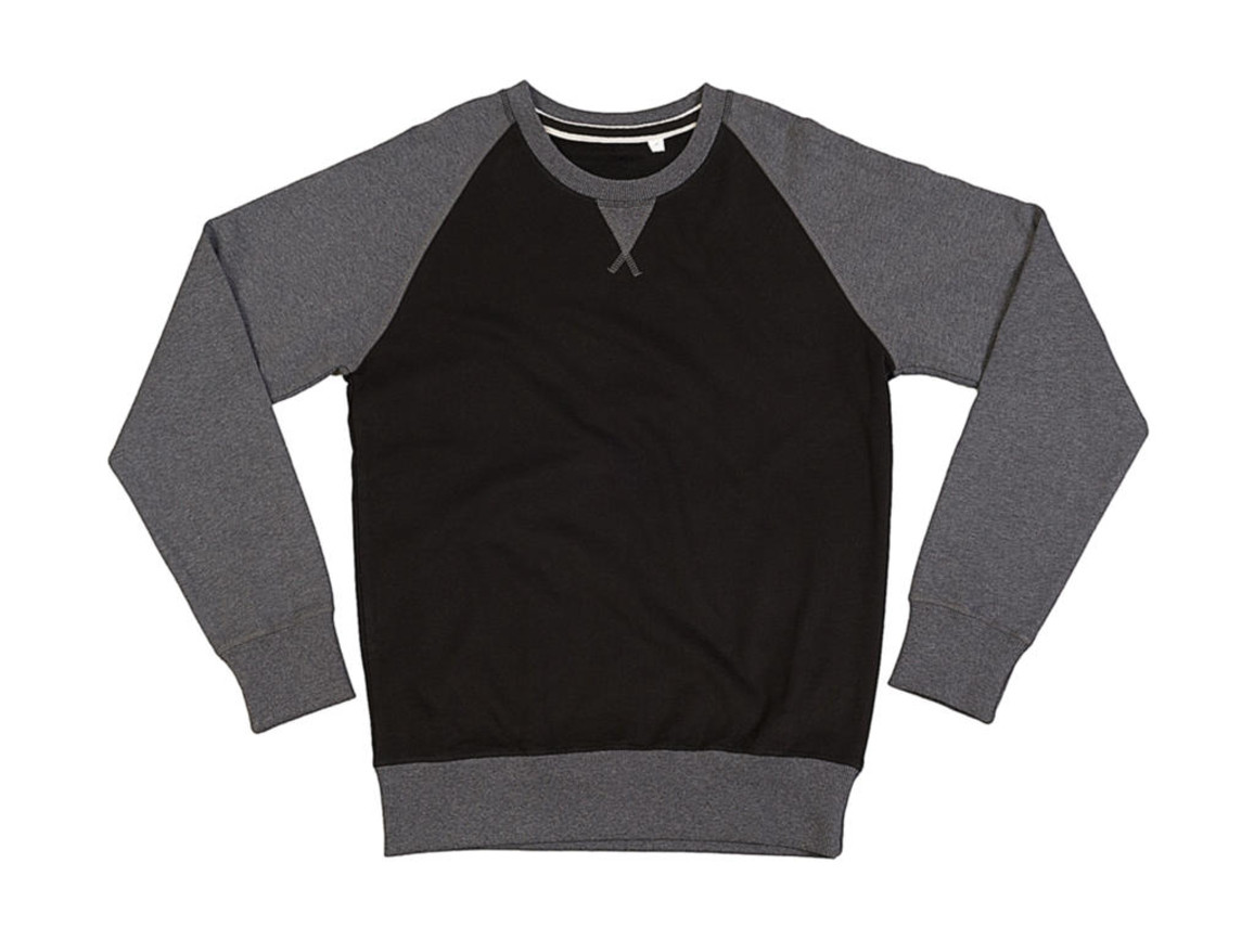 Mantis Superstar Baseball Sweatshirt, Black/Charcoal Grey Melange, L bedrucken, Art.-Nr. 205481615