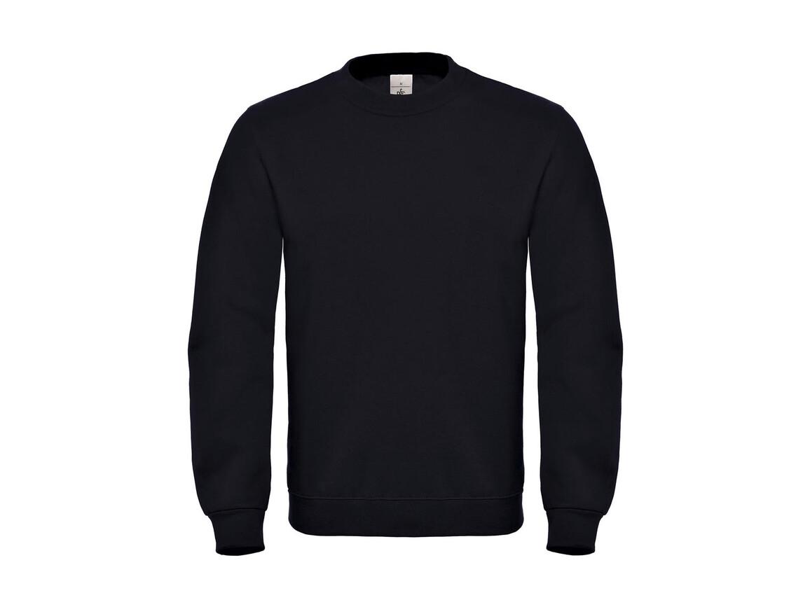 B & C ID.002 Cotton Rich Sweatshirt, Black, XL bedrucken, Art.-Nr. 215421016