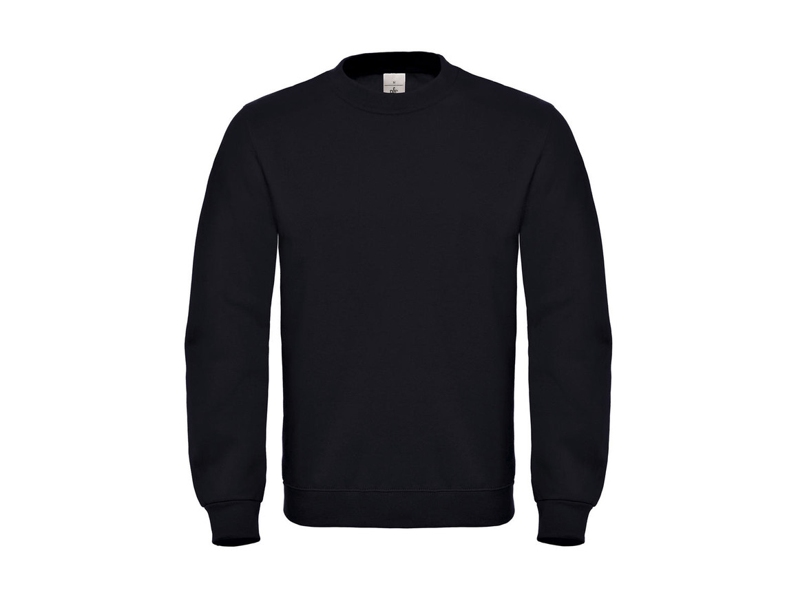 B & C ID.002 Cotton Rich Sweatshirt, Black, 4XL bedrucken, Art.-Nr. 215421019