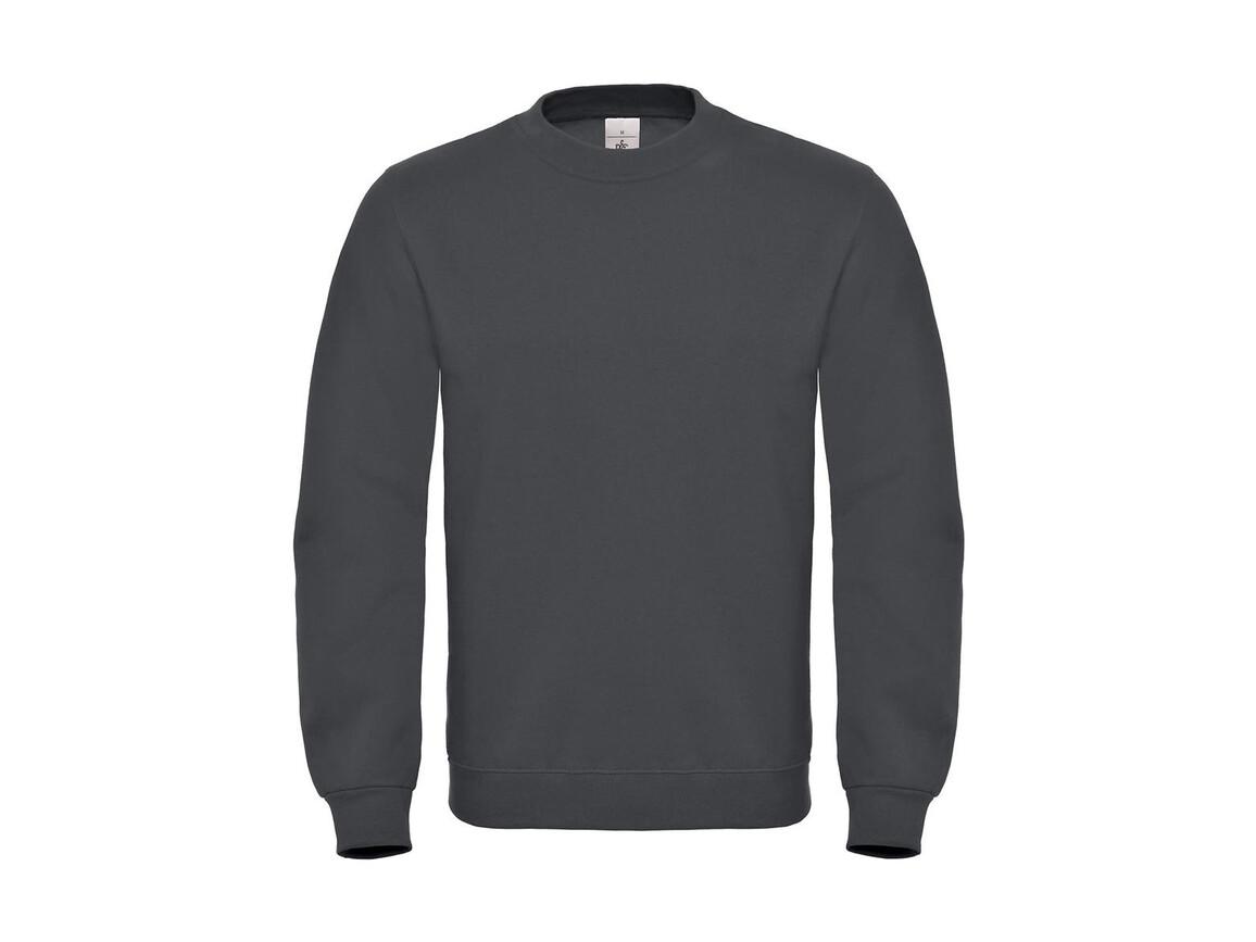 B & C ID.002 Cotton Rich Sweatshirt, Anthracite, M bedrucken, Art.-Nr. 215421404
