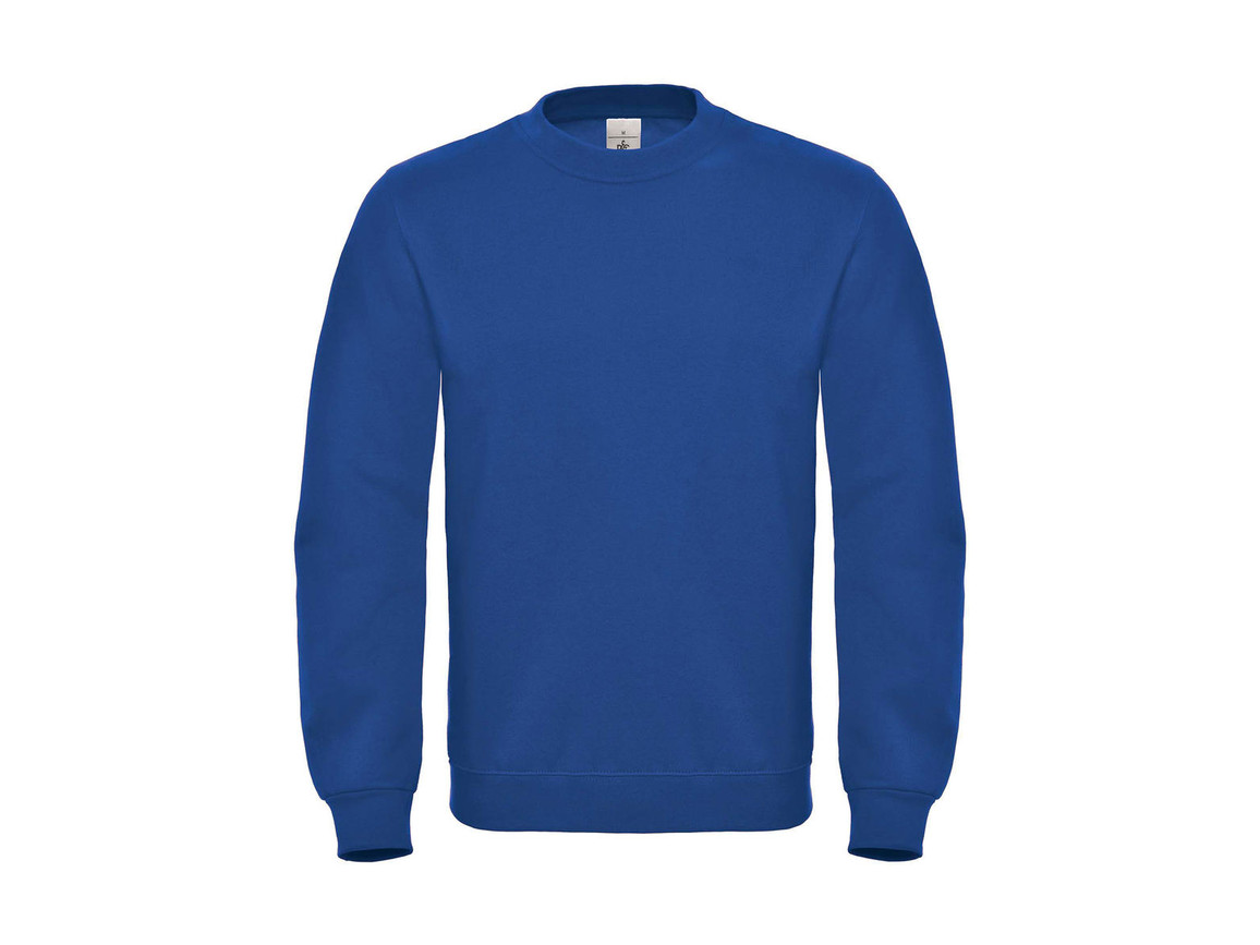 B & C ID.002 Cotton Rich Sweatshirt, Royal, 4XL bedrucken, Art.-Nr. 215423009