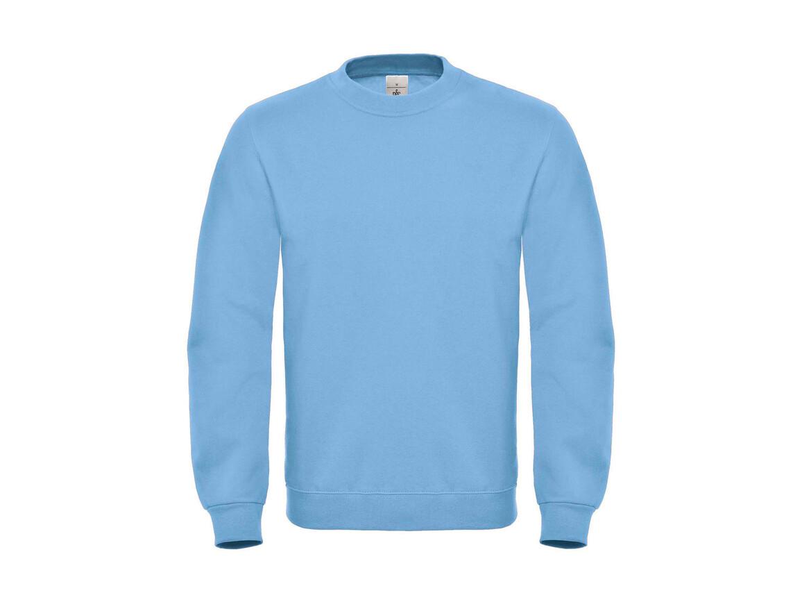 B & C ID.002 Cotton Rich Sweatshirt, Light Blue, M bedrucken, Art.-Nr. 215423224
