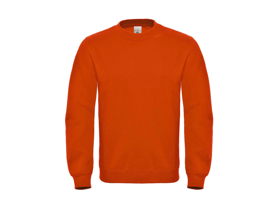 B & C ID.002 Cotton Rich Sweatshirt, Orange, L bedrucken, Art.-Nr. 215424105