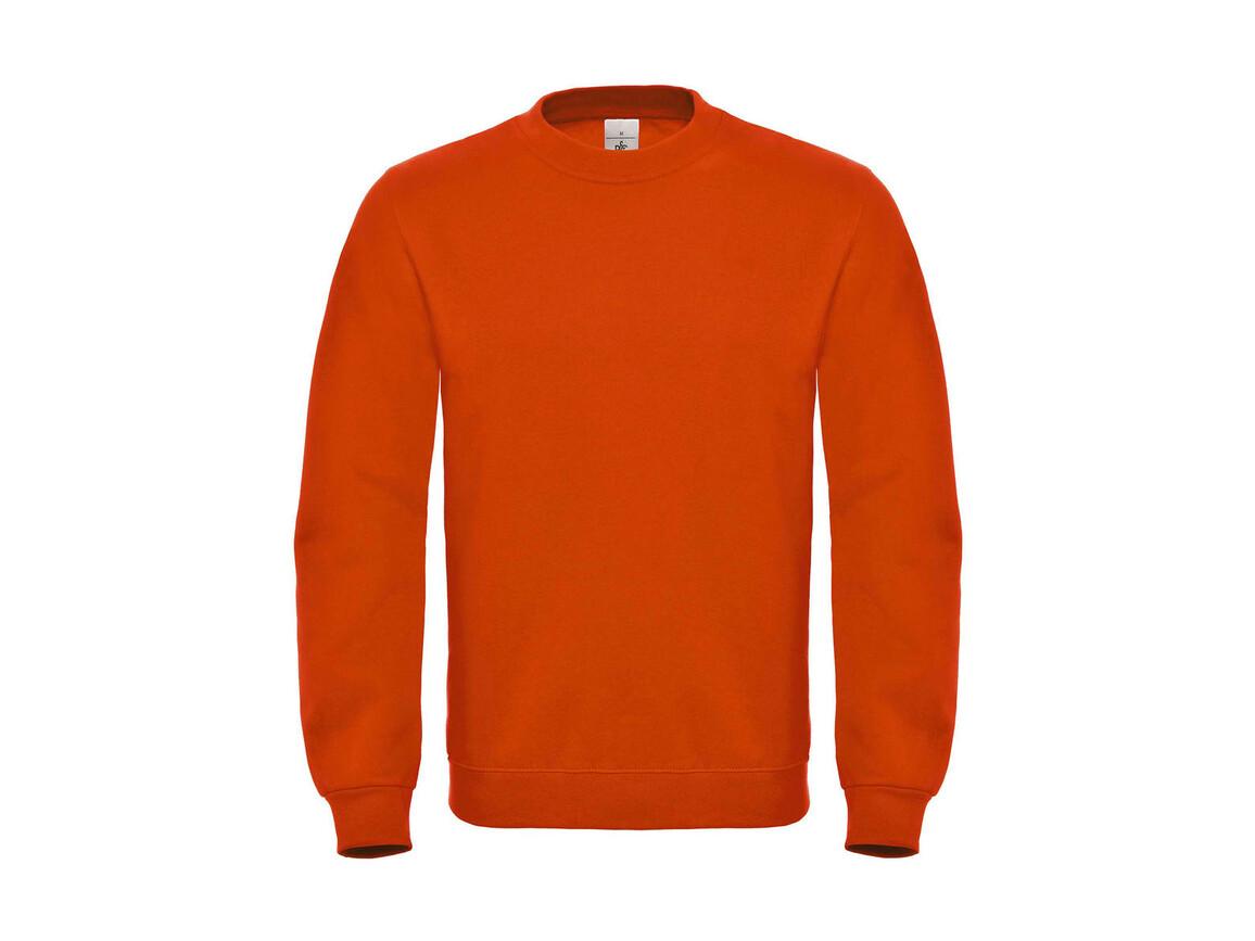 B & C ID.002 Cotton Rich Sweatshirt, Orange, L bedrucken, Art.-Nr. 215424105