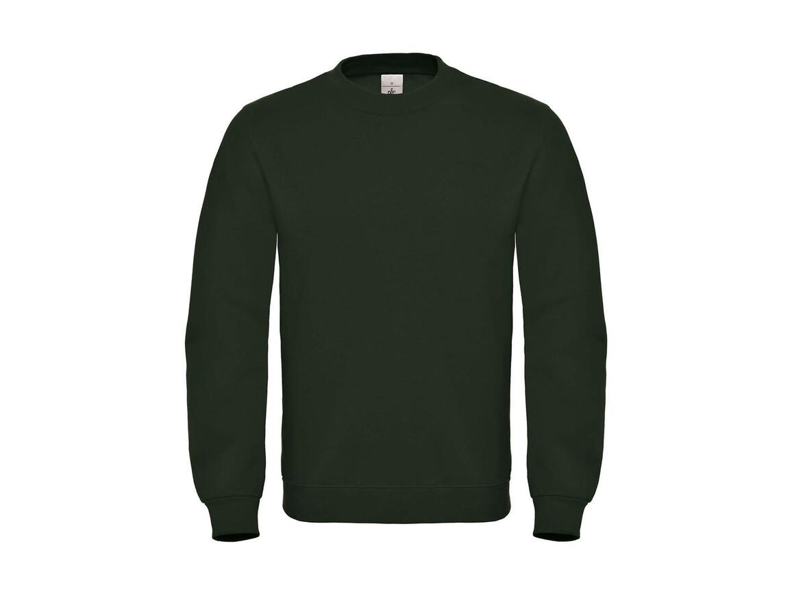 B & C ID.002 Cotton Rich Sweatshirt, Forest Green, L bedrucken, Art.-Nr. 215425415
