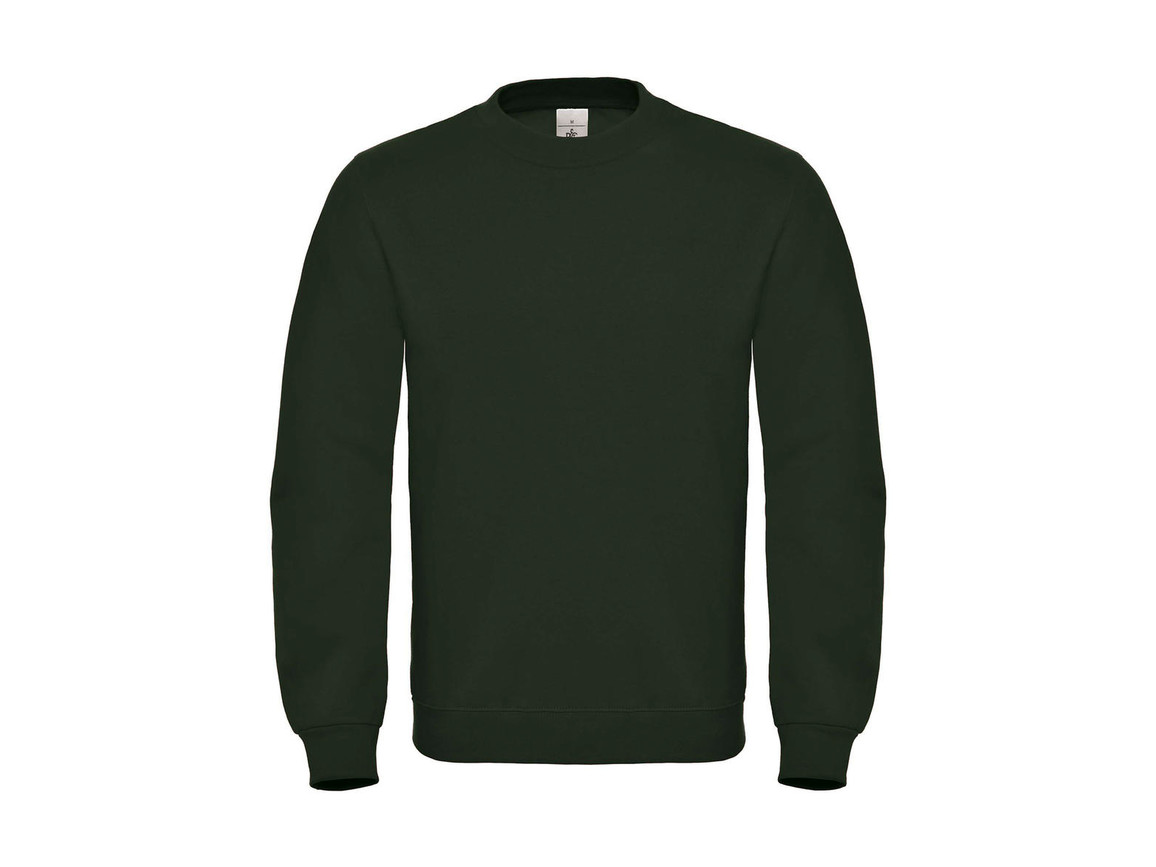 B & C ID.002 Cotton Rich Sweatshirt, Forest Green, M bedrucken, Art.-Nr. 215425414