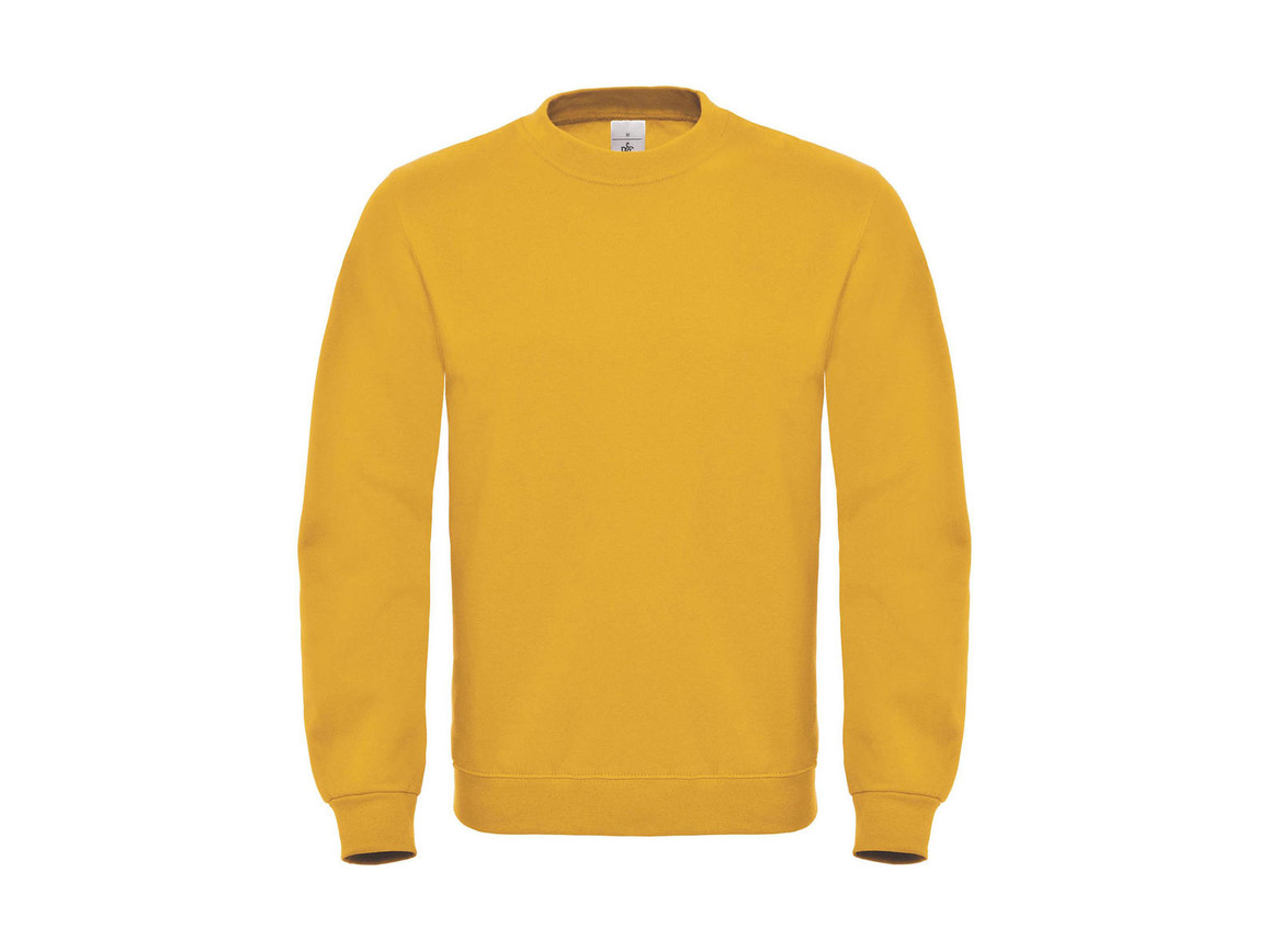 B & C ID.002 Cotton Rich Sweatshirt, Chili Gold, S bedrucken, Art.-Nr. 215426133