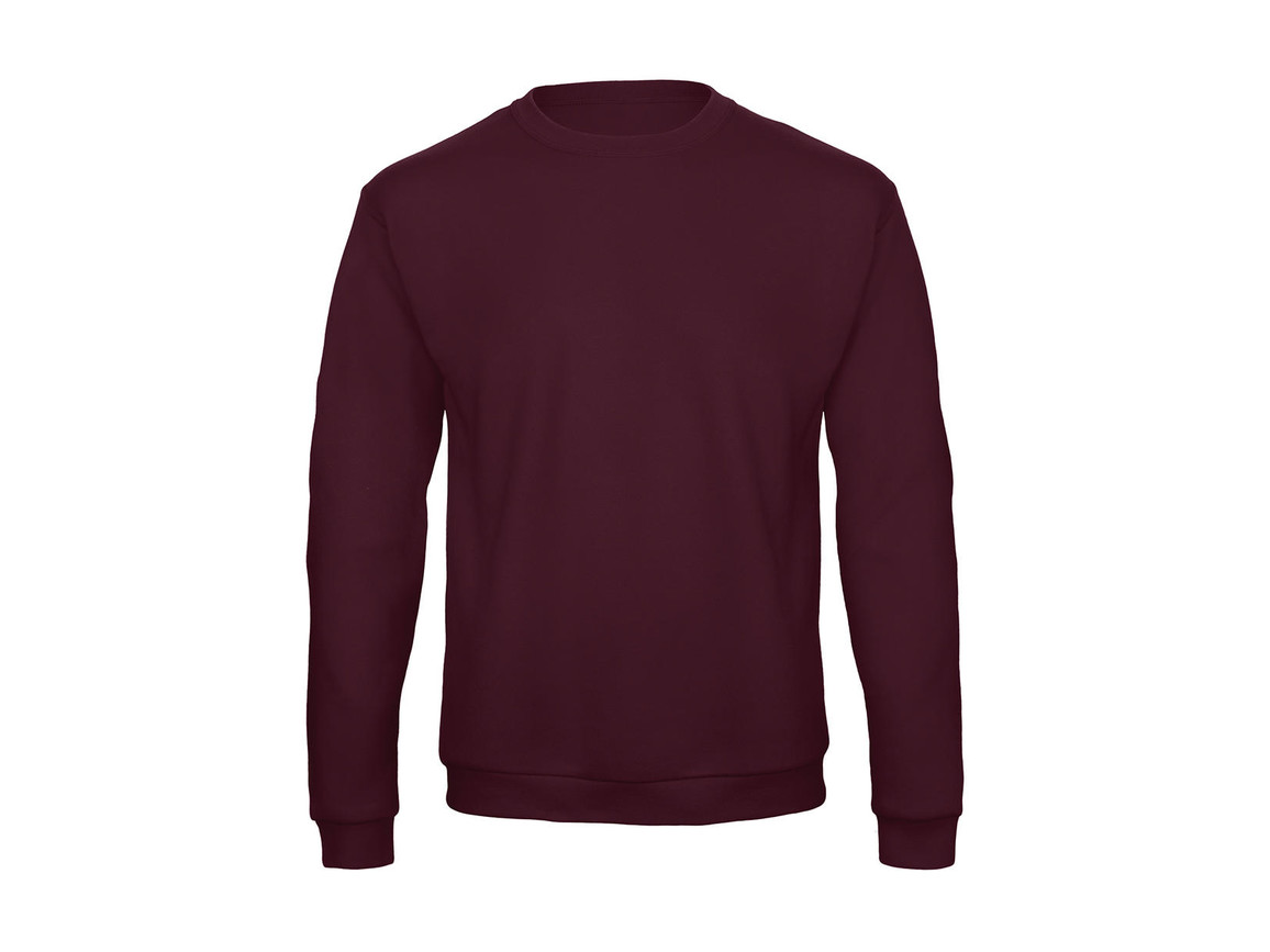 B & C ID.202 50/50 Sweatshirt Unisex, Burgundy, M bedrucken, Art.-Nr. 220424484