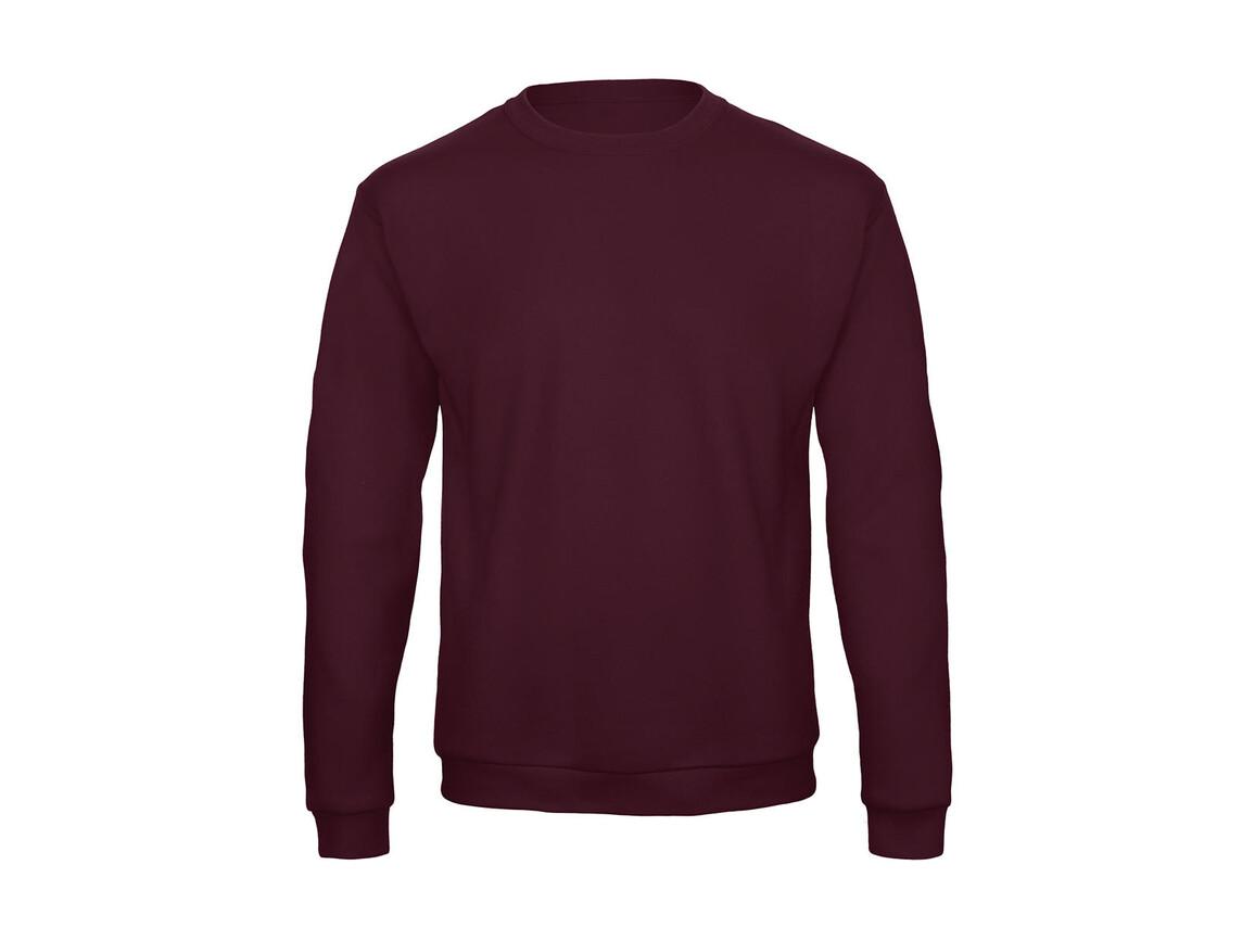 B & C ID.202 50/50 Sweatshirt Unisex, Burgundy, S bedrucken, Art.-Nr. 220424483