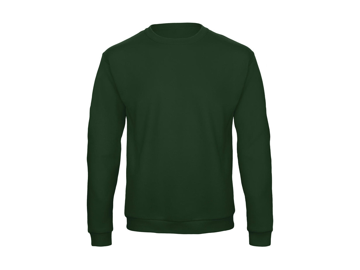 B & C ID.202 50/50 Sweatshirt Unisex, Bottle Green, M bedrucken, Art.-Nr. 220425404
