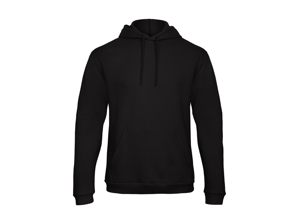 B & C ID.203 50/50 Hooded Sweatshirt Unisex, Black, L bedrucken, Art.-Nr. 221421015