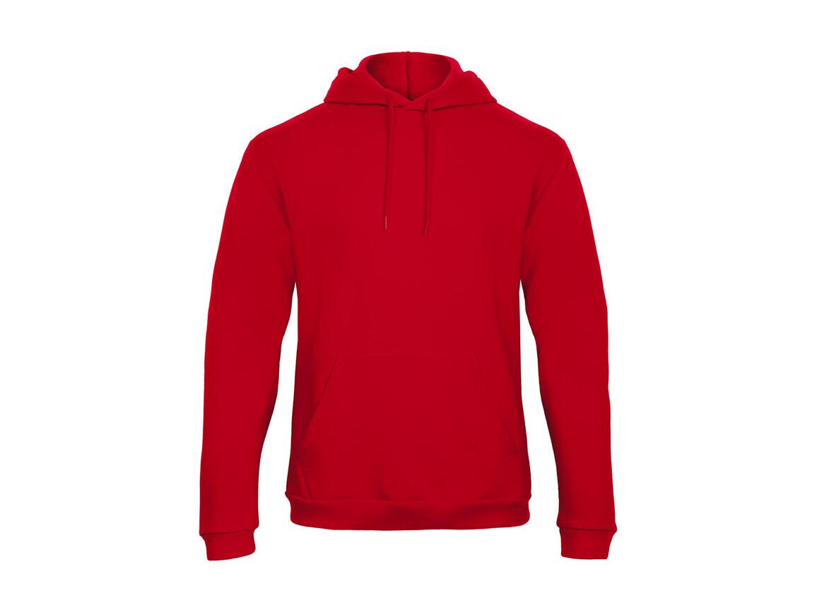 B & C ID.203 50/50 Hooded Sweatshirt Unisex, Red, L bedrucken, Art.-Nr. 221424005