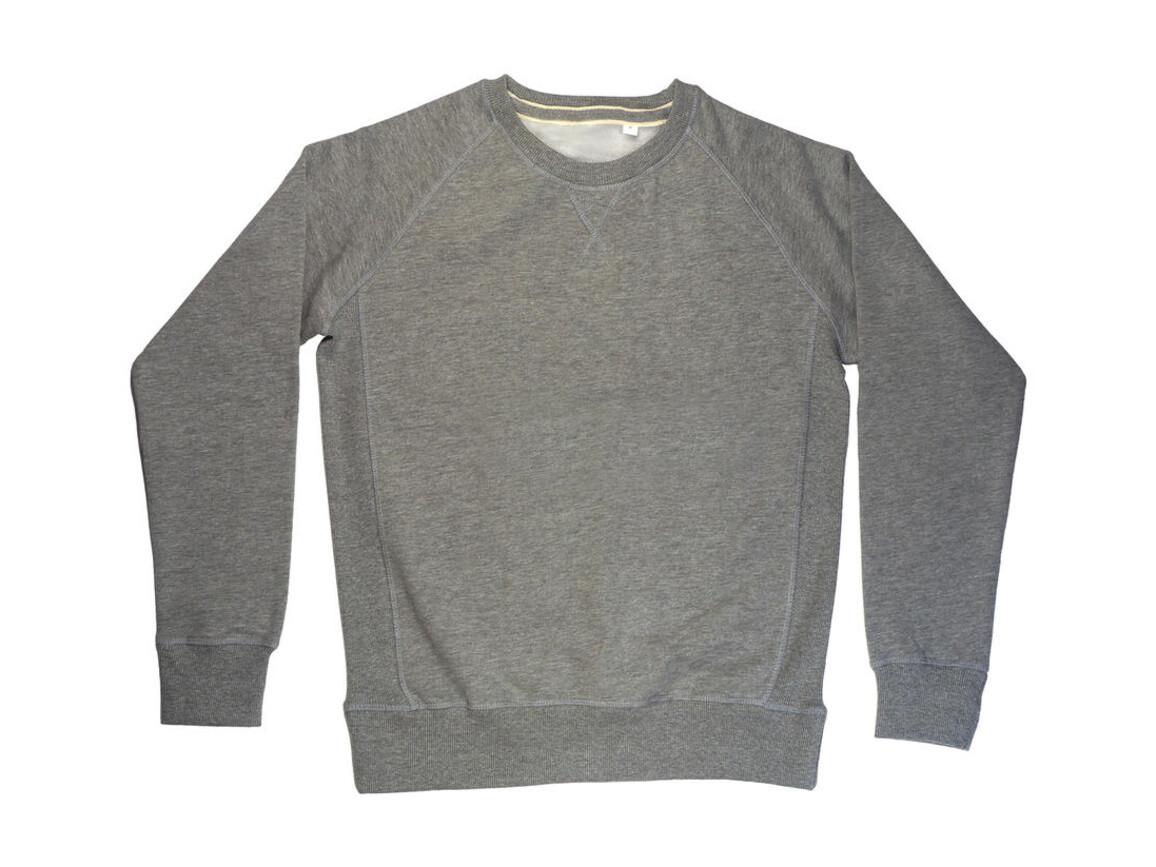 Mantis Men`s Superstar Sweatshirt, Heather Grey Melange, M bedrucken, Art.-Nr. 230481234