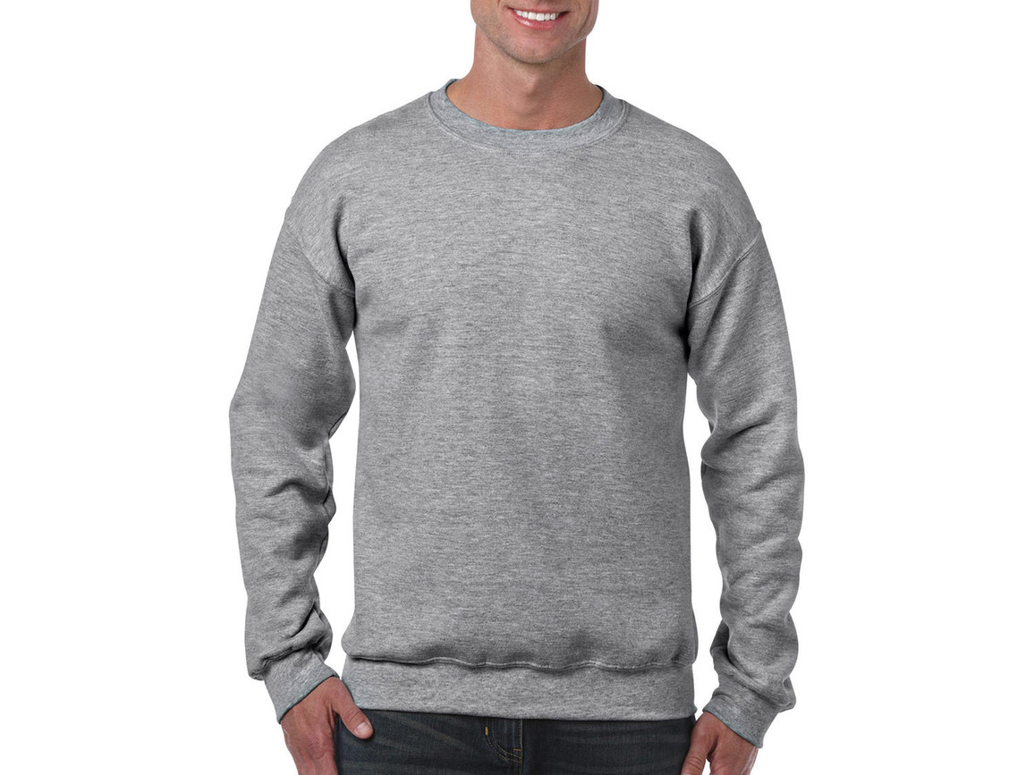 Gildan Heavy Blend Adult Crewneck Sweat, Sport Grey, 4XL bedrucken, Art.-Nr. 238091259