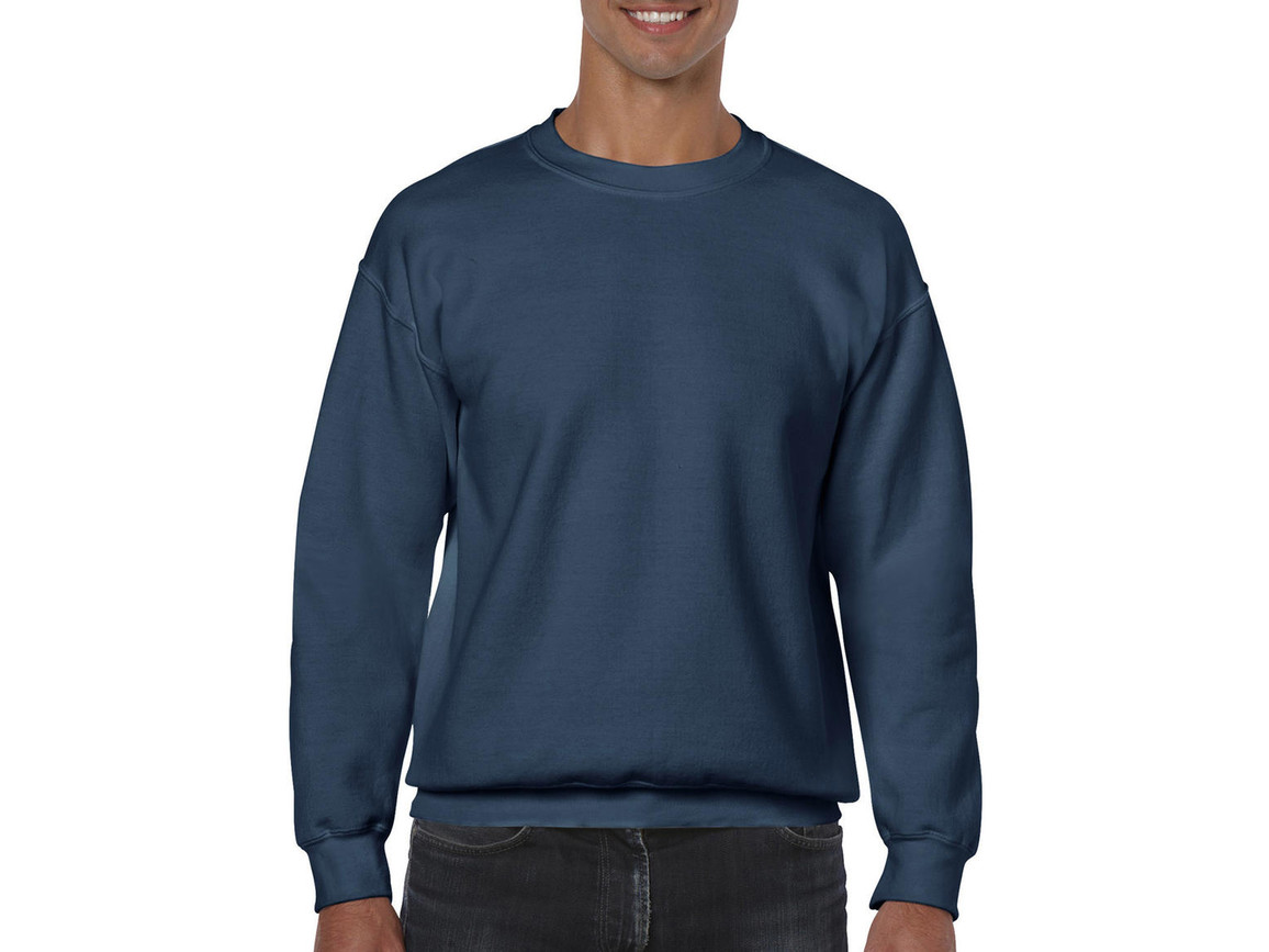 Gildan Heavy Blend Adult Crewneck Sweat, Indigo Blue, M bedrucken, Art.-Nr. 238093184