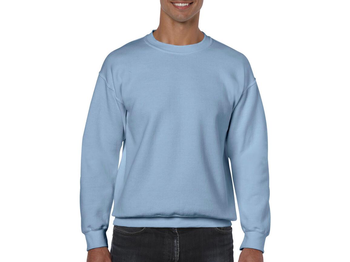 Gildan Heavy Blend Adult Crewneck Sweat, Light Blue, 2XL bedrucken, Art.-Nr. 238093217