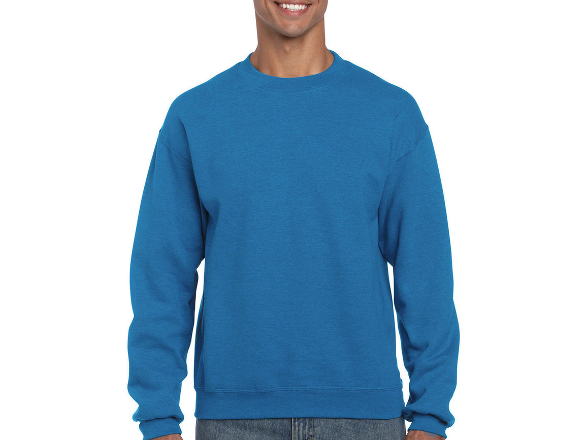Gildan Heavy Blend Adult Crewneck Sweat, Antique Sapphire, XL bedrucken, Art.-Nr. 238093296