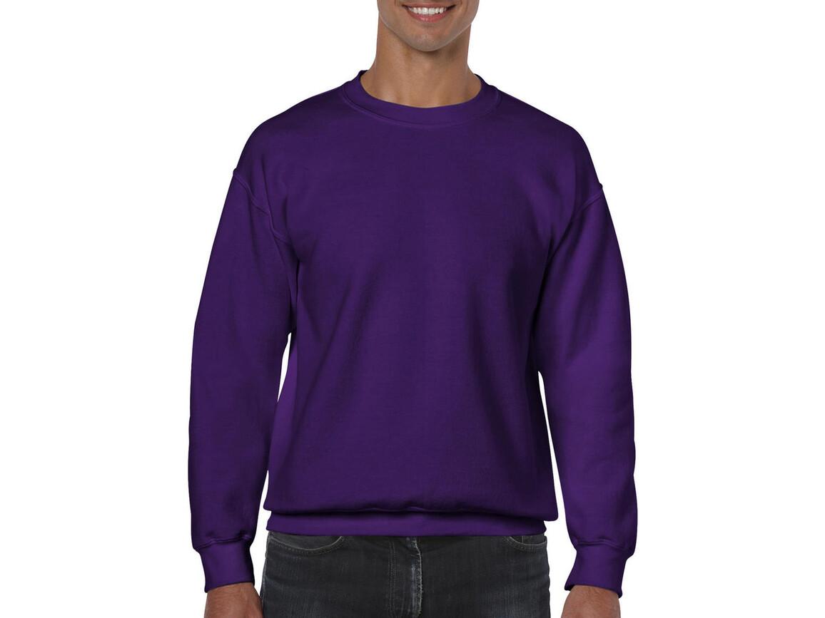 Gildan Heavy Blend Adult Crewneck Sweat, Purple, M bedrucken, Art.-Nr. 238093494