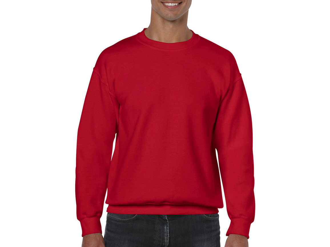 Gildan Heavy Blend Adult Crewneck Sweat, Red, M bedrucken, Art.-Nr. 238094004