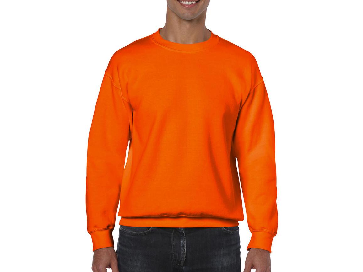 Gildan Heavy Blend Adult Crewneck Sweat, Safety Orange, 2XL bedrucken, Art.-Nr. 238094057