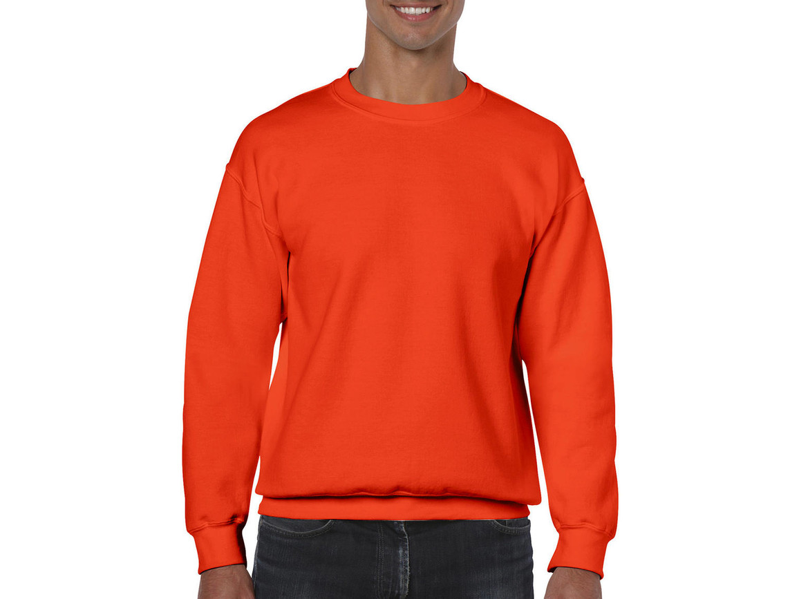 Gildan Heavy Blend Adult Crewneck Sweat, Orange, S bedrucken, Art.-Nr. 238094103