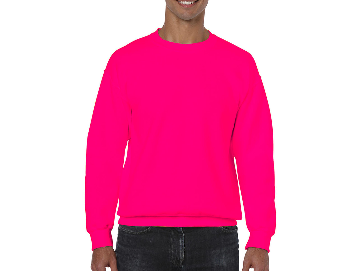 Gildan Heavy Blend Adult Crewneck Sweat, Safety Pink, XL bedrucken, Art.-Nr. 238094196