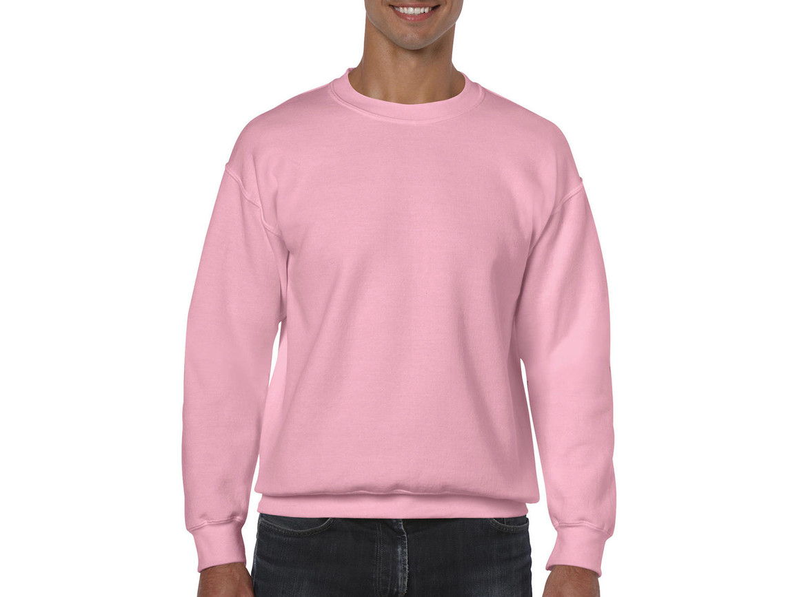 Gildan Heavy Blend Adult Crewneck Sweat, Light Pink, XL bedrucken, Art.-Nr. 238094206