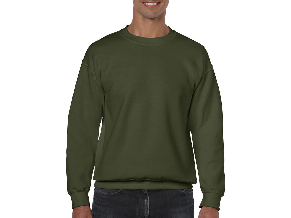 Gildan Heavy Blend Adult Crewneck Sweat, Military Green, S bedrucken, Art.-Nr. 238095063