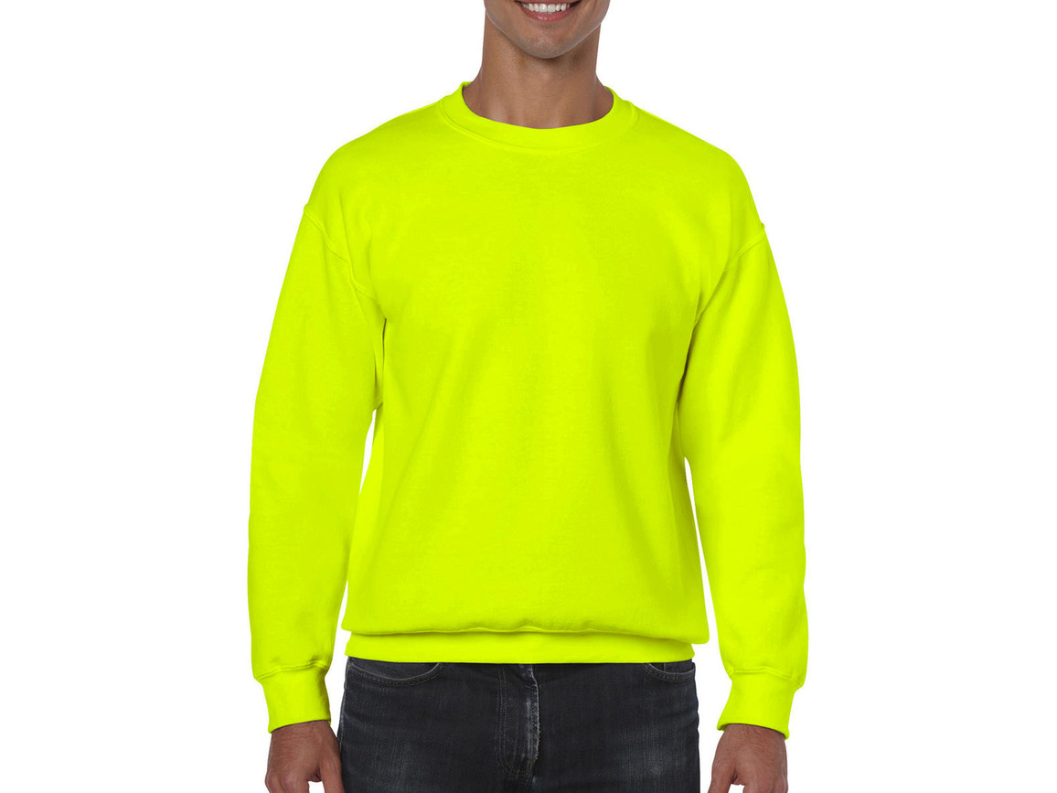 Gildan Heavy Blend Adult Crewneck Sweat, Safety Green, S bedrucken, Art.-Nr. 238095113