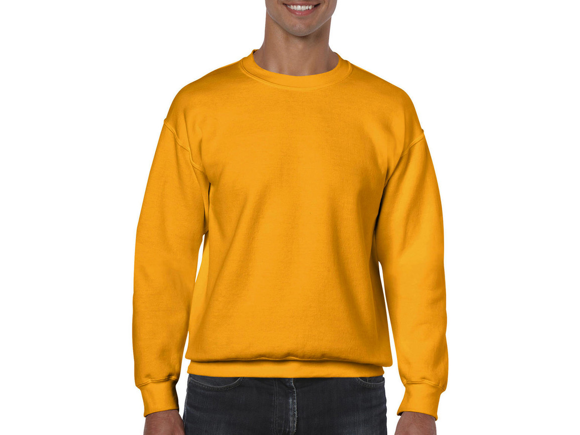 Gildan Heavy Blend Adult Crewneck Sweat, Gold, M bedrucken, Art.-Nr. 238096434